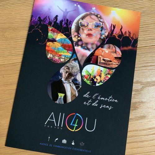 Plaquette institutionnelle Agence evenementielle Lyon 69